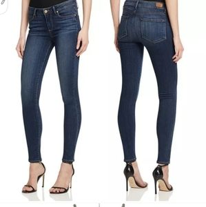 PAIGE Skyline Skinny Slim Fit Dark Blue Jeans 28 8